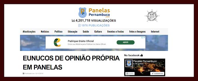 NOVO ARTIGO DE PIERRE LOGAN E OS EUNUCOS DE OPINIÃO PRÓPRIA EM PANELAS