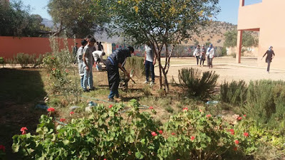 أنشطة بيئية بثانوية محمد الجزولي و محيطها بالمديرية الإقليمية بتزنيت