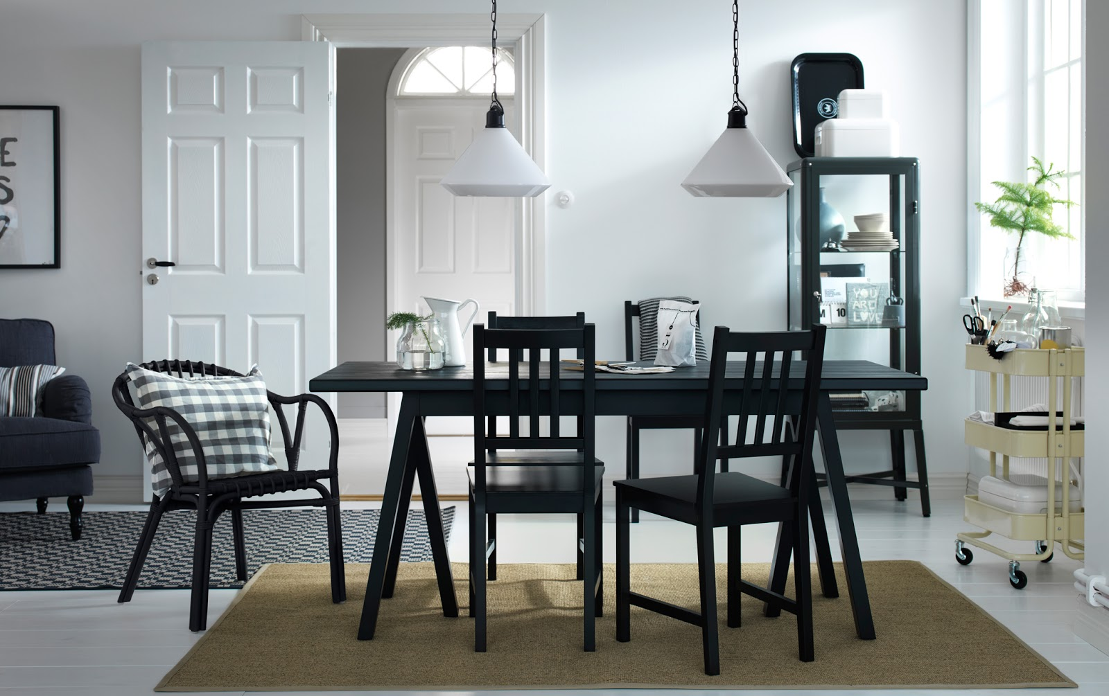 Black dining room sets
