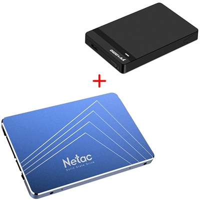 Netac N600S: disco duro SSD + enclosure negro