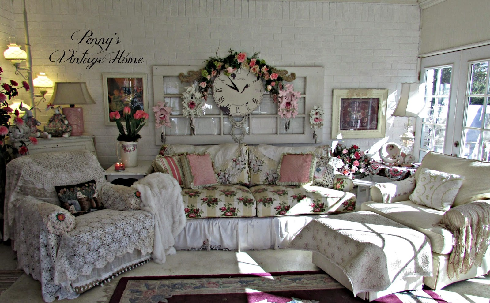 Penny's Vintage Home: New Furniture Arrangement in the Sunroom
