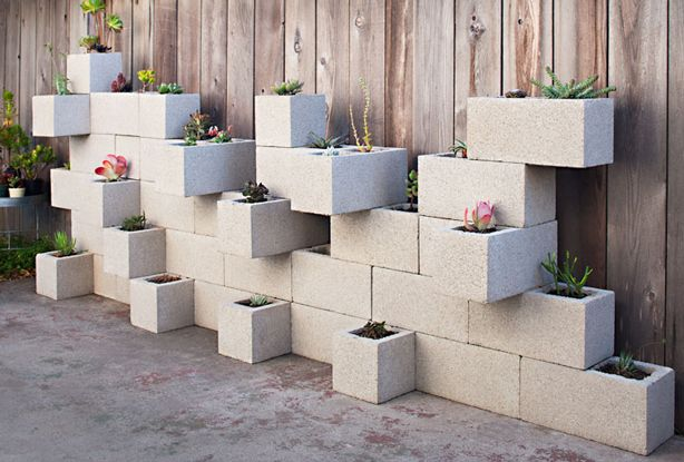 20 decoration ideas to make with concrete blocks 18