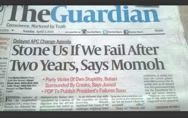 Check out what APC cheiftain Tony Momoh said in the past