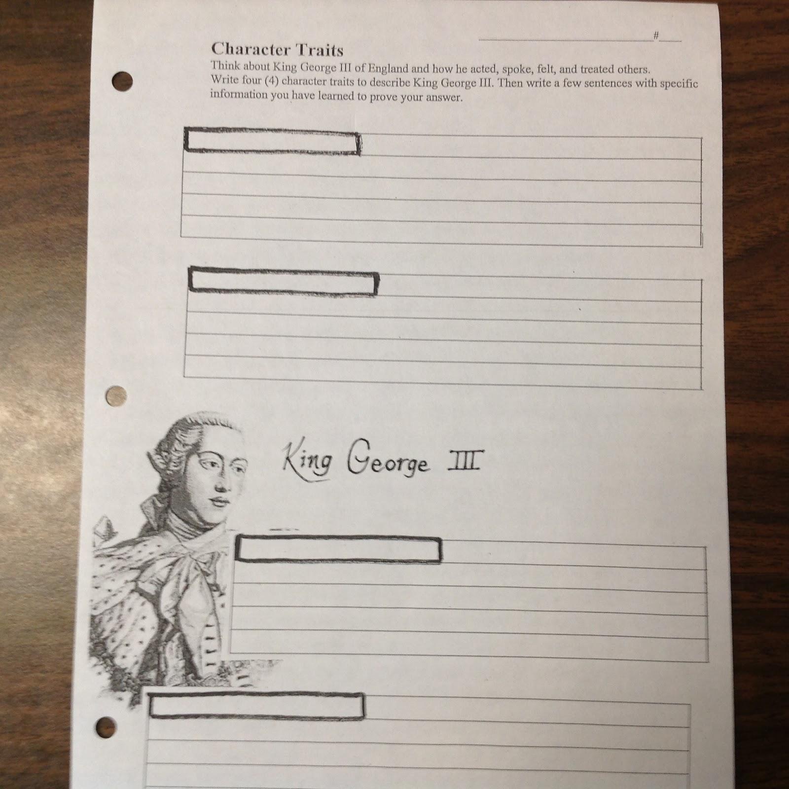 Once A Teacher Always A Teacher King George Character Traits