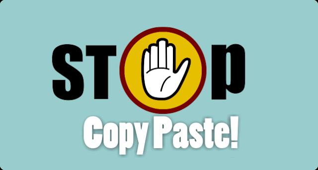Solusi Jika Blog sering di Copy paste ~ stop copy paste! santricerdas.com