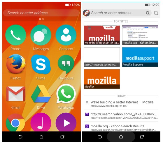 Firefox OS 2 5 can be installed on Android-smartphone