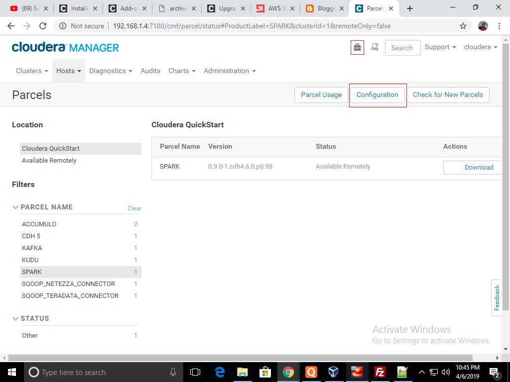 Big Data with Jasvant: Installing spark 2 in cloudera VM
