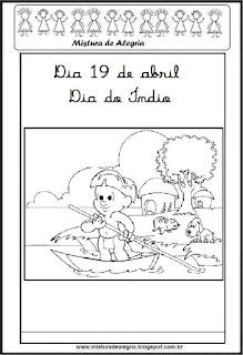 Dia do índio desenho para colorir