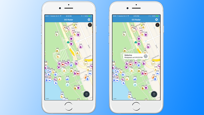 Pokemon Live Map for iPhone