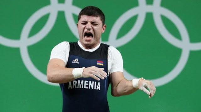 Pesista armenio sufrió escalofriante lesión en competencia