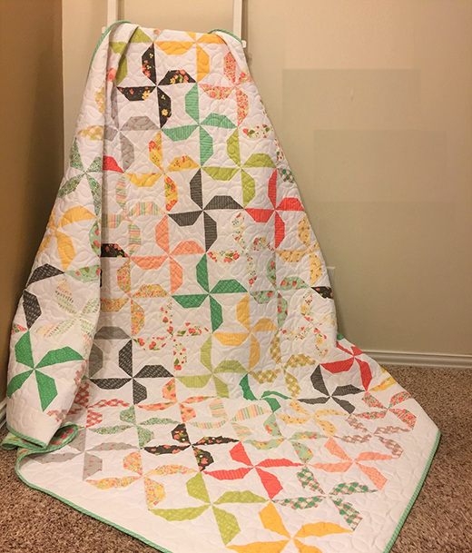 Going Dutch Quilt Free Tutorial designed by Amanda Wilbert of Pieced Just Sew for Modabakeshop