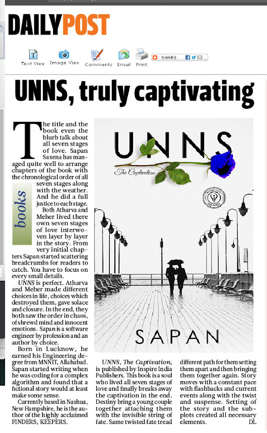 Daily Post India covers UNNS- The Captivation