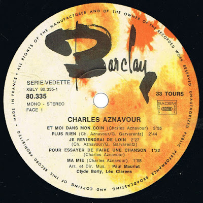 Charles Aznavour - De T'Avoir Aimee (1966 2014)