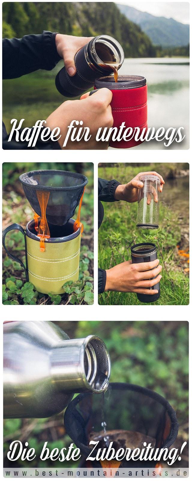 Kaffee für unterwegs  GSI Outdoors  Ultralight Javadrip  Commuter Java Press  Infinity Backpacker Mug 14