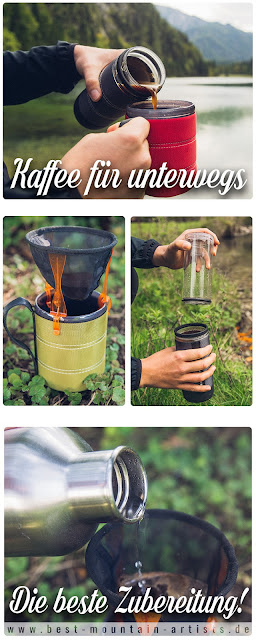 Kaffee für unterwegs  GSI Outdoors  Ultralight Javadrip  Commuter Java Press  Infinity Backpacker Mug 14