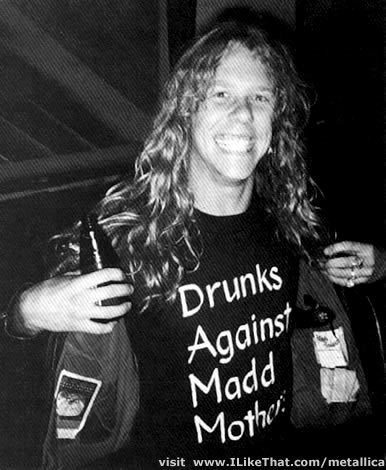 Drunks Against Madd Mothers t-shirt as worn by James Hetfield