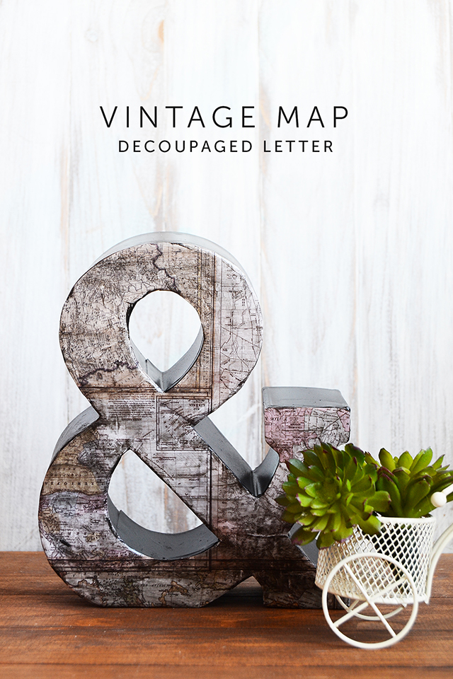 vintage ampersand letter at mod podge rocks