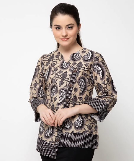 10 Model Baju Batik Muslim Atasan Wanita Terbaru 2018: Model Baju Batik Atasan Untuk Wanita Terbaru