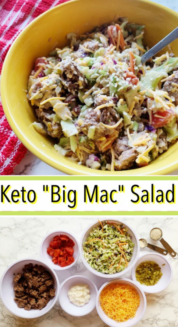 BIG MAC SALAD – KETO AND LOW CARB #diet #yummy