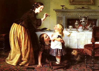 Мать кормит ребенка Charles West Cope (1811-1890)