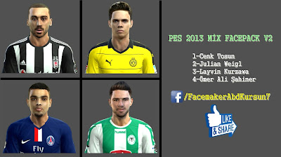 PES 2013 MİX FACEPACK V2 Facemaker AbdKursun7