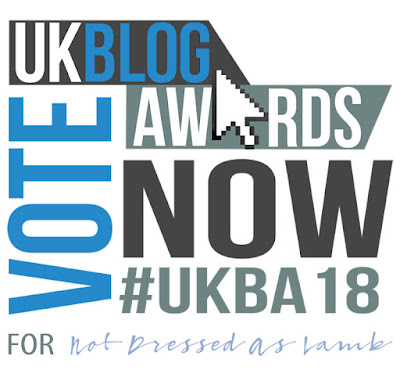 Vote for Not Dressed As Lamb in the Fashion & Beauty category in the 2018 UK Blog Awards