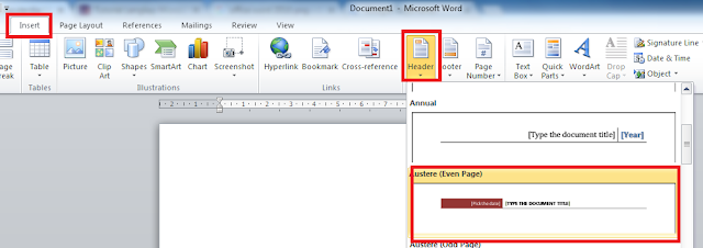 Cara Membuat Header dan Footer di Microsoft Office Word 2010