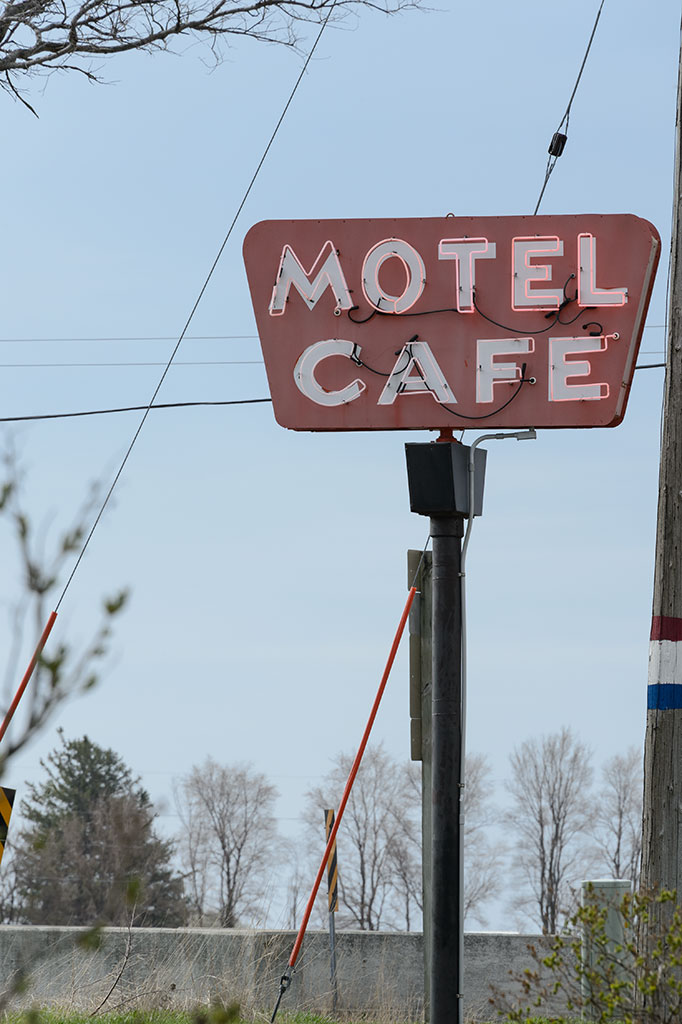 Motel and Cafe Sign on the Jefferson Highway