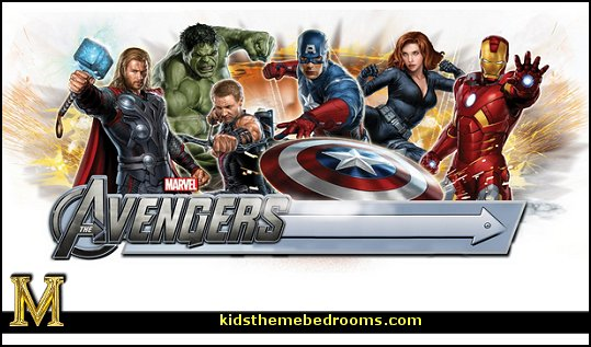 Marvel  Avengers theme bedroom decorating ideas