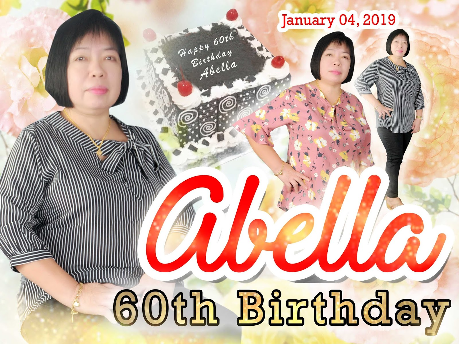 60th Birthday Abella Tarpaulin Layout Free Download