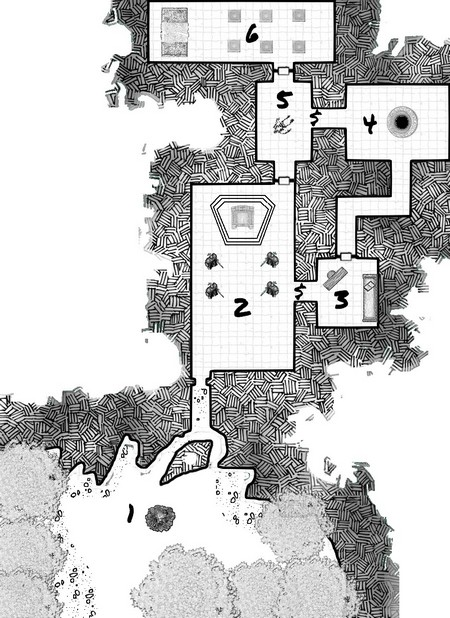solo rpg dungeon map - Evil temple