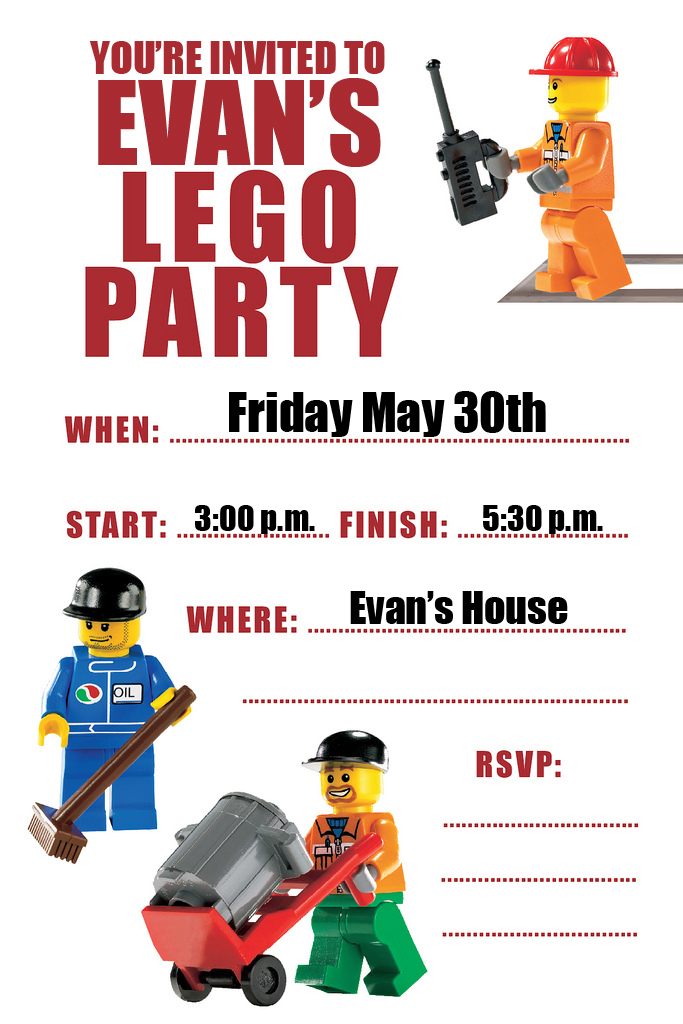 BIRTHDAY BLUEPRINT: Lego Party