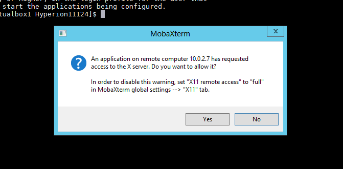 Exploits in Hyperion: Using MOBAXTERM for doing a Hyperion