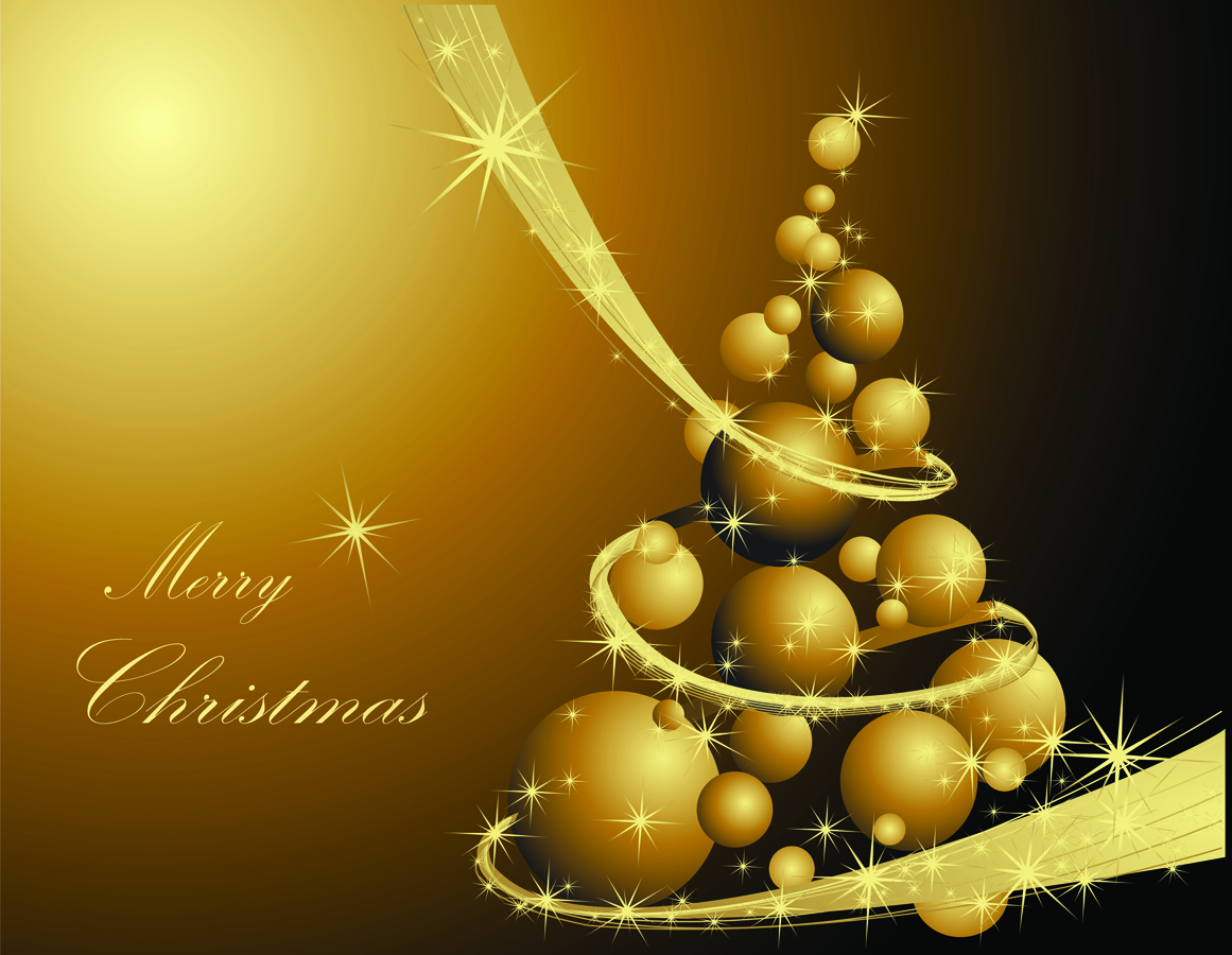 golden christmas background with - photo #21
