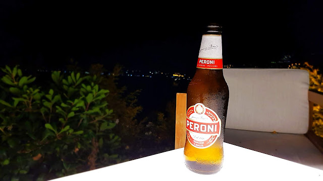Peroni birra su panorama agropoli
