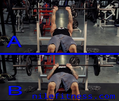 Closed-grip bench press, exercises for triceps