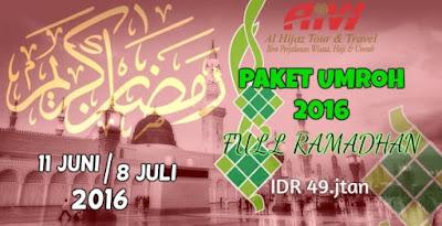 Paket Umroh Full Ramadhan 2016