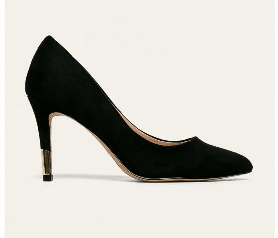 Aldo - Pantofi cu toc inalt de ocazii eleganti din piele intoarsa eco negri