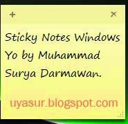 "Tampilan utama ""Sticky notes"""