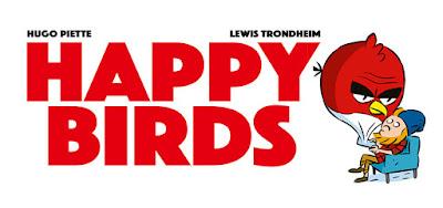 couverture de Happy Birds de Trondheim et Piette chez Delcourt