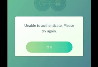 Error Unable To Authenticate Please Try Again Pokemon Go