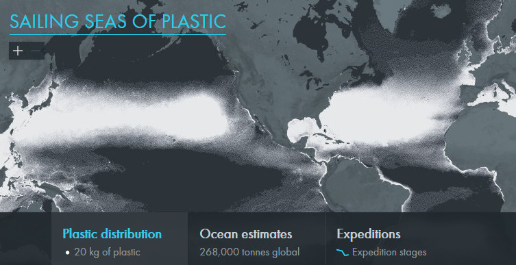 sailing seas of plastic