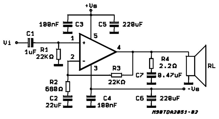40w audio amplifier