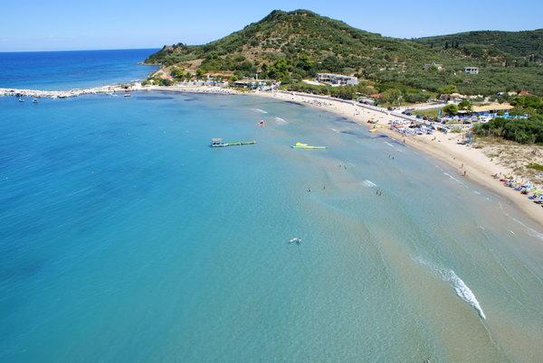 Belas praias em Zaquintos, Grécia