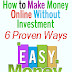 6 Legitimate Simple Ways to Make Money Online for Free