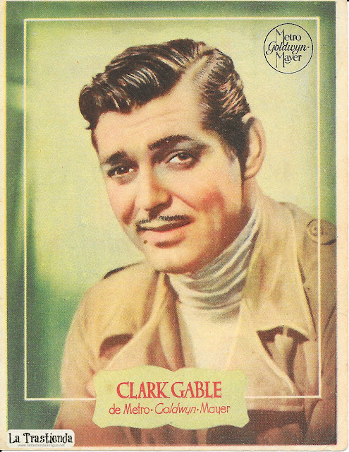 Retrato antiguo de Clark Gable