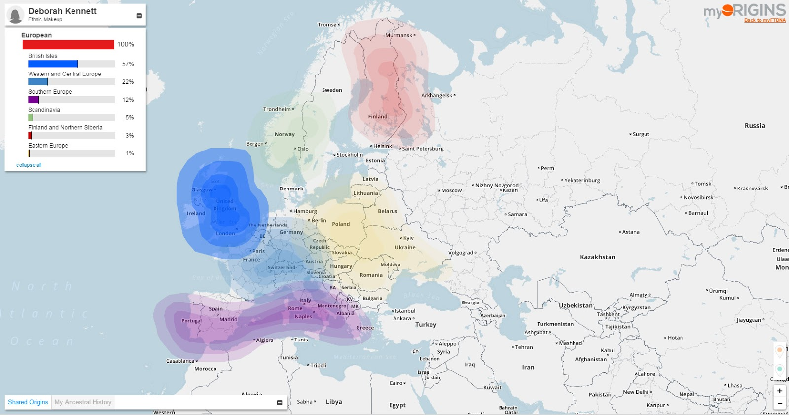 Cruwys News Comparing Admixture Results From Ancestrydna