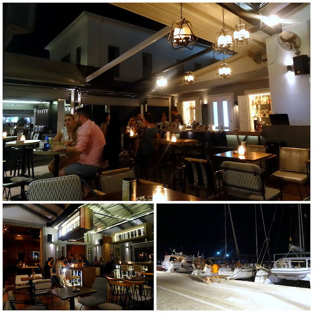 Bars and cafes at the marina boulevard of Preveza, Greece