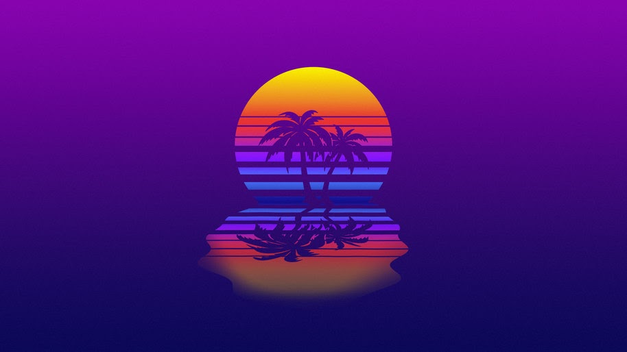 Palm Tree, Synthwave, Retrowave, Digital Art, 4K, #76 ...