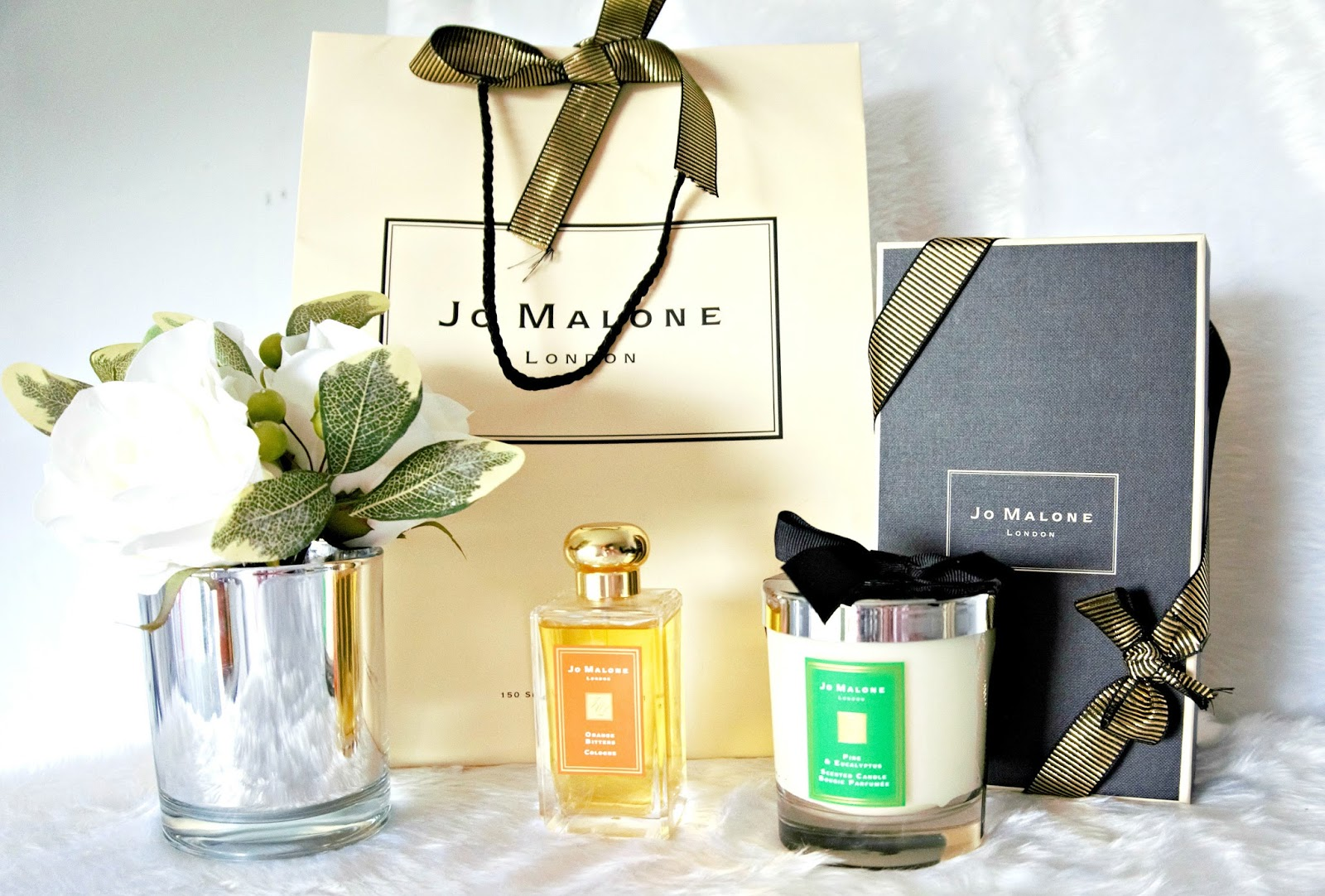 Jo Malone Orange Bitters Cologne, Pine & Eucalyptus Candle, Review, 2017 Christmas Jo Malone